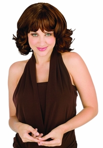 Buxom Beauty Wig Brown Costume
