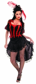Can Can Black Red Medium Costume