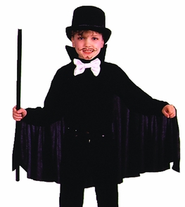 Cape 26in Child Black Costume
