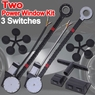 Car Truck Suv Electric Power Window Conversion Kit 2 Windows