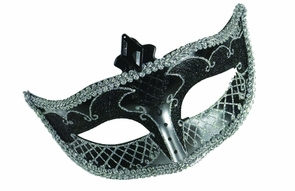 Carnival Mask No Feather Black Costume