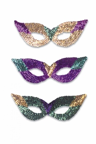 Cat Eye Masks Seq Asst Color Costume