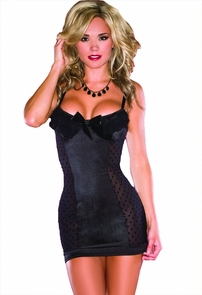 Chemise Mesh Polka Dot Medium Costume