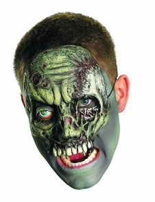 Chinless Walking Zombie Mask Costume