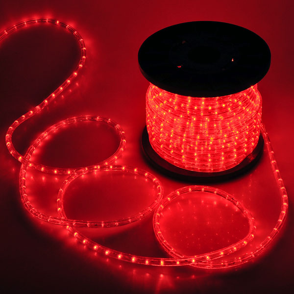 Christmas lighting led rope light 150ft red w connector aloadofball Gallery