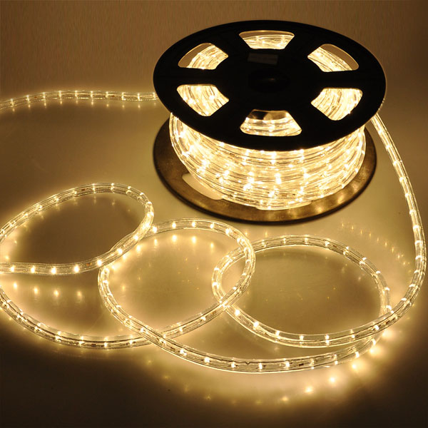 Christmas lighting led rope light 50ft white ii w connector aloadofball