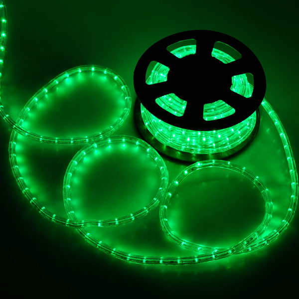 Christmas Lighting LED Rope Light 50ft White II w  Connector. Green Led Rope Lighting. Home Design Ideas