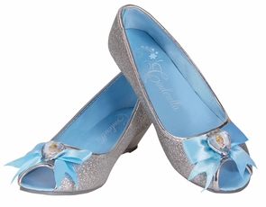 Cinderella Shoes 9/10 Child Sm Costume