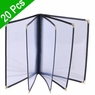 "Clear Restaurant Menu Cover Folder 10 View 8-1/2""x14"" 20pcs"