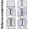 "Clear Restaurant Menu Cover Folder Triple 8-1/2""x14"" 30pcs"