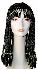Cleo Beaded W/gold Beads Blk Costume
