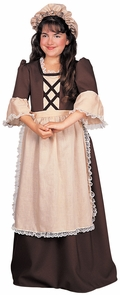 Colonial Girl Child Small Costume