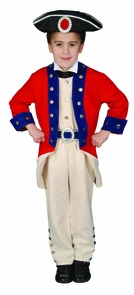 Colonial Soldier Child 8 To 10 Costume