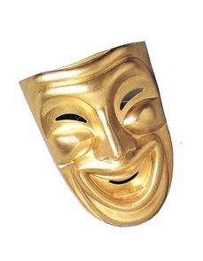 Comedy Mask Gold Costume