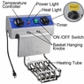 Commercial Quality Stainless Steel Electric Deep Fryer w/ Drain