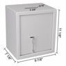 Compact Depository Drop Safe for Home & Office White