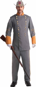 Confederate Officer Adult Std Costume