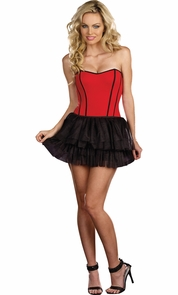 Corset Reversible Bk/rd Xl Costume