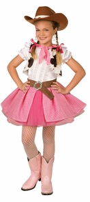 Cowgirl Cutie Child Med 8-10 Costume