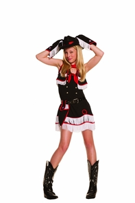 Cowgirl Cutie With Hat Md Lg Costume