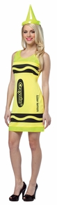 Crayola Tank Dress Neon Yellow Costume