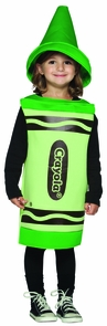 Crayola Toddler Green 3t-4t Costume