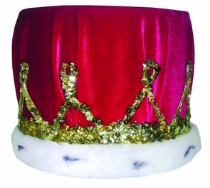 Crown Sequin With Red Turban Costume