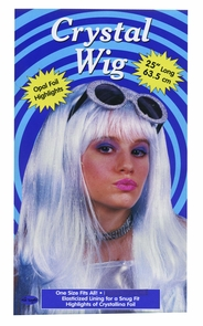 Crystal Wig Blue Costume
