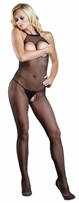 Cut Out Bodystocking Black Costume