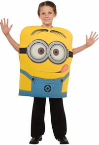 Boy's Foam Minion Dave Costume - Despicable Me 2 Costume