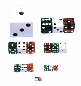 Dice 1/2 Inch Red Costume