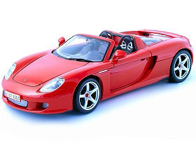 Diecast Porsche Carrera GT Convertible PM 1/18 Car