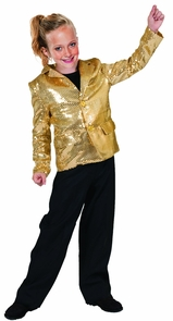 Disco Jacket Gold Child Med Costume