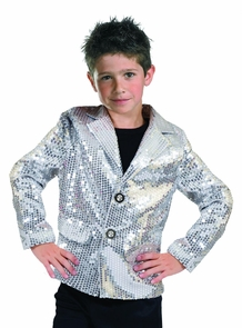 Disco Jacket Silver Child Med Costume