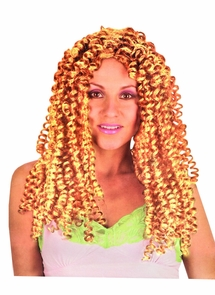 Diva Crimped Blonde Wig Costume