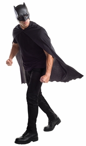 Doj Batman Adt Cape With Mask Costume