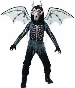 Dragon Skeleton Child Sz 8 Costume