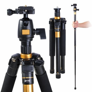 DSLR Camera Aluminum Tripod w/ Monopod & Ball Head