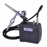 Dual Action Airbrush Kit Black Air Compressor Inks Filter