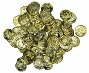 Doubloons Gold Pack Of 144 Costume