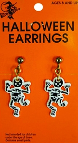 Earrings Skeleton Costume