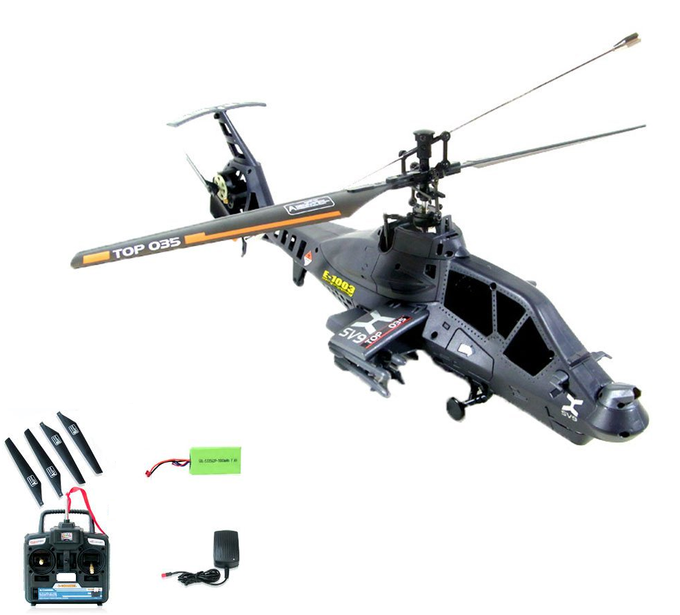 5874794e2 Easy To Fly Apache RC (Remote Control) Helicopter 4 Channel - Ready To Fly  W Rockets