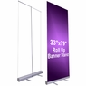"Economy Rollup Retractable Banner Stand 33"" x 79"""