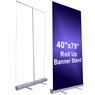 "Economy Rollup Retractable Banner Stand 40"" x 79"""