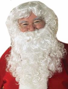 Economy Santa Beard & Wig Set Costume