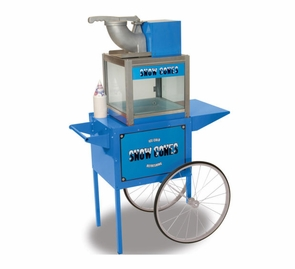 Electric Snow Cone Maker Ice Shaver Machine with Cart