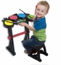 Electronic Junior Drums Beat Set For Kids W/Stool  & Stand