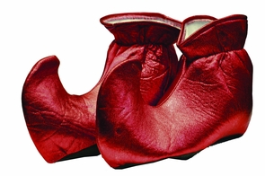 Elf Shoes Cloth Red Costume