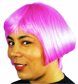 Eve Wig Hot Pink Costume