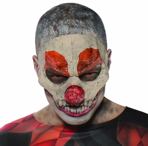 Evil Clown 3/4 Mask Costume